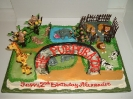 Zoo theme with gates - Shown  80-90 servings