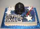 Space Wars helmet with sabers and logo