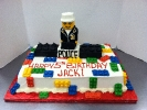 Toy Brick Police Character