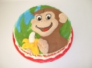Monkey with banana drawn on