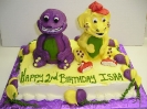 Purple Dinosaur and Friend 3D