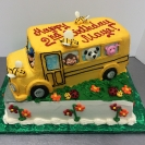 School Bus with Animals 3D