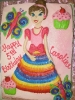 Princess with Rainbow Dress Drawn On