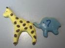 Giraffe & Elephant