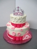 Princess Tiara on 2 Tier Round