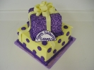 Purple and Yellow Present with Fondant Bow