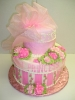 Princess hat box design, 2 tiers