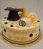 3D Grad Cap & Diploma with Dots