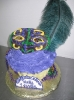 Mardi Gras_Mask on Cupcake