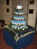Blue Flower Cupcakes on Stand