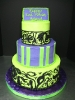 Purple and Lime Green Tier