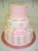 Light Pink on White Fondant
